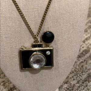 Black and Gold Camera Necklace